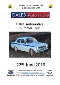 Dales Automotive Summer Tour Front 3